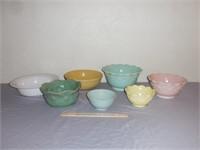 Decorative Pastel Bowls