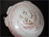 Large Shell, Elephant Clay Vase