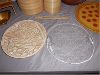 Bamboo Steamers, Wicker Lap Holder, Large Trays