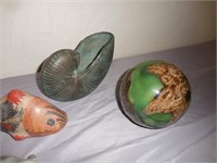 Elephants, Animal Figurines, Shell, Ball Decor