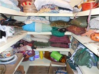 Contents of Storage Closet: Sheets, Blankets,