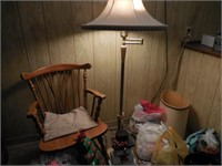 Chair, Floor Lamp, Holiday Crafts
