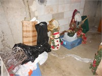 Christmas Decorations in Storage Room