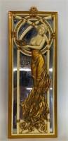 Rare O.Tupton Art Nouveau Women Wall Mirror