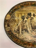 Very Early Beer Tray-Poker Playing Dogs