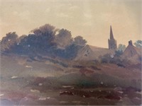 Louis K Harlow Watercolour in Frame