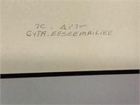 Gyta Eeseemailee (1955-) Stencil in Frame