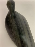 Small Black Stone Inuit Bird Carving