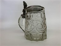 Antique Pressed Glass German Stein