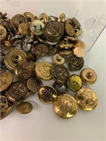 Large Lot of Great Military and Other Buttons