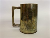 African Campaign 1943 WWII Engraved Trench Art