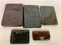 Early Alligator and Leather Billfolds/Change Purse