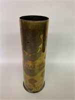 WWI Trench Art Shell For Marie 1914-1918
