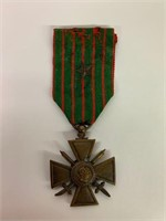 Original French WW1 French Cross of War Medal