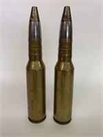 Pair of Early Heavy Artillery Military Shells