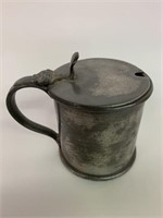 Early Pewter Syrup Pitcher