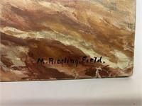 M. Riegling. Field Oil on Panel