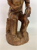Large Wooden Hand Carved Statue