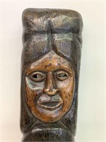 Exceptional Early Wooden Carved Wall Masks