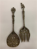 Antique Heavily Detailed Salad Set