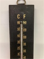 Early Seagram H Gilt Wall Thermometer