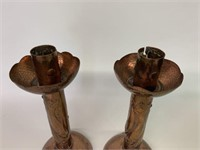 Pair of Copper Candle Sticks