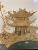 Fine Asian Diorama in Case