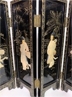 Mother Of Pearl Decorated 4 Section Screen