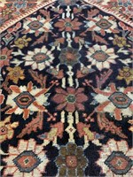 Large Vintage Hand Knotted Persian Carpet