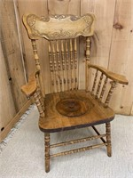 Early Wooden Commode Chair
