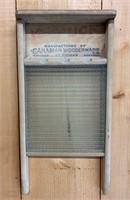 Primitive Canuck Glass Washboard