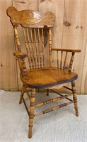 Fine Armchair with Medallion Back Carving