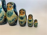 Early Stacking Indian Maryoshka Dolls