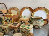 Large Lot of Porcelain Cottageware