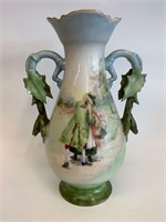 Stunning Hand Painted Early Handled Pitcher