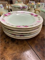 Very Early Hand Painted Luncheon Set