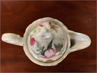 Early Hand Painted English Chocolate Pot