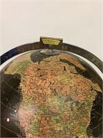 Antique Encyclopedia Britannia Black World Globe
