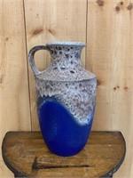 Large Decorated Handled Vase