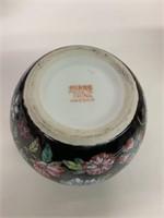 Oriental Decorated Tea Pot and Sugar Jar