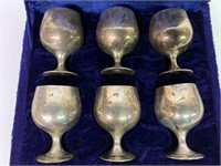EPNS Indian Etched Egg Cup Set