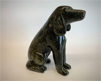Native Soapstone Dog on Watch