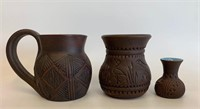 Group of Six Nations and Mohawk Pottery Pieces