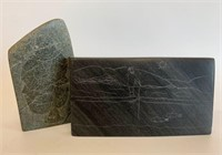 Early Soapstone Inuit Etchings