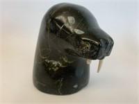 Black Soapstone Walrus