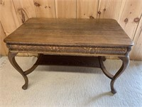 Early Oak Library Table