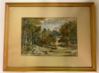 Fine Watercolour Signed Varley