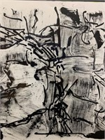 Black and White Riopelle LIthograph