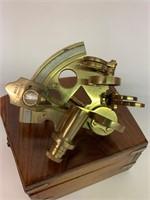 ROSS London English Brass Sextant