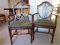 Pair of Quality Shield Back Captain's Chairs